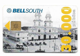 Ecuador, BellSouth Used Chip Phonecard, No Value, Collectors Item, # Ecuador-2 - Ecuador