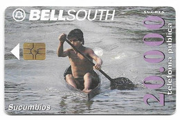 Ecuador, BellSouth Used Chip Phonecard, No Value, Collectors Item, # Ecuador-3 - Ecuador
