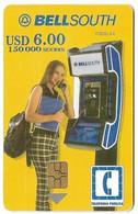 Ecuador, BellSouth Used Chip Phonecard, No Value, Collectors Item, # Ecuador-9 - Ecuador