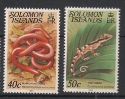 Solomon Isl. - 1983 - N°Yv. 479 à 480 - Reptiles - Neuf Luxe ** / MNH / Postfrisch - Salomoninseln (Salomonen 1978-...)
