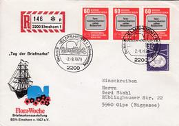 Eingedruckter R-Zettel,  2200 Elmshorn 1,  Nr.146  * P, Tag Der Briefmarke - R- & V- Vignetten