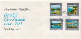 New Zealand Set On FDC - Vakantie & Toerisme