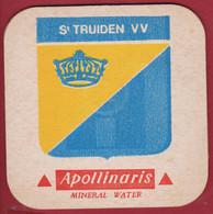 Voetbal Belgie Belgique Oud Bierkaartje Bierviltje Sint Truidense Truiden VV Apollinaris Mineral Water - Beer Mats