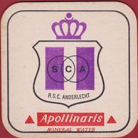 Voetbal Belgie Belgique Oud Bierkaartje Bierviltje Sporting Club Anderlecht RSC RSCA Apollinaris Mineral Water - Beer Mats