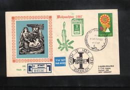 Israel 1967 Christmas Interesting Registered Letter - Israel