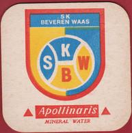 Voetbal Belgie Belgique Oud Bierkaartje Bierviltje KSK SK Beveren Baas Apollinaris Mineral Water - Beer Mats