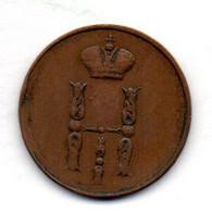 RUSSIA, 1 Kopek, Copper, Year 1852-EM, KM #149.1 - Russia
