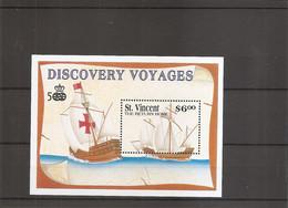 Colomb ( BF 124 XXX -MNH- De Saint -Vincent ) - Christopher Columbus