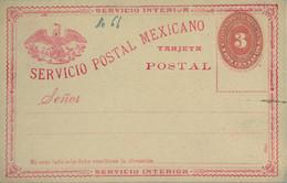 MÉXICO - ENTERO POSTAL NO  CIRCULADO , TRES CENTAVOS , SERVICIO INTERIOR - Messico