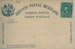 MÉXICO - ENTERO POSTAL NO  CIRCULADO , TRES CENTAVOS - Messico