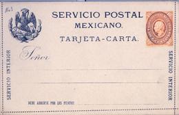 MÉXICO - ENTERO POSTAL NO  CIRCULADO , DIEZ CENTAVOS , SERVICIO INTERIOR - Messico