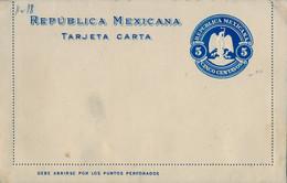 MÉXICO - ENTERO POSTAL NO  CIRCULADO , CINCO CENTAVOS - Messico
