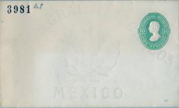 MÉXICO - SOBRE ENTERO POSTAL NO  CIRCULADO , DIEZ CENTAVOS - Messico