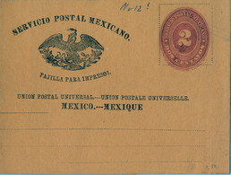 MÉXICO - FAJA POSTAL PARA IMPRESOS , NO CIRCULADA , DOS CENTAVOS - Messico