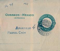 MÉXICO , FRONTAL DE FAJA PARA IMPRESOS CIRCULADA , MÉXICO D.F. - Messico