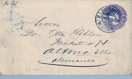 1905  MÉXICO , SOBRE ENTERO POSTAL CIRCULADO , MÉXICO D.F. - ALTONA , LLEGADA AL DORSO - Messico