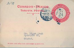 1924  MÉXICO , ENTERO POSTAL CIRCULADO , PARRAL - CORREO INTERIOR - Messico