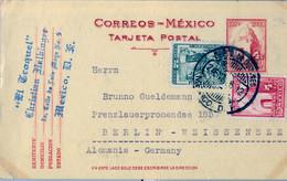 1936  MÉXICO , ENTERO POSTAL CIRCULADO , BUZONES MÉXICO D.F. - BERLIN - Messico