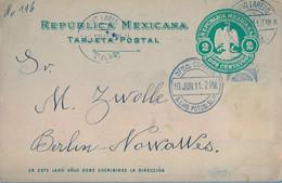 1911  MÉXICO , ENTERO POSTAL CIRCULADO , SAN LUIS POTOSÍ - BERLÍN , TRÁNSITO DE NUEVO LAREDO. - Messico