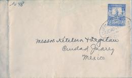 1897  MÉXICO , SOBRE ENTERO POSTAL CIRCULADO , CIUDAD JUÁREZ / E. DE CHIHUAHUA , TRÁNSITO PASO DEL NORTE - Messico