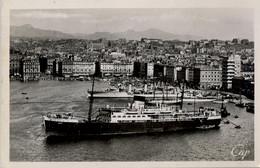 T.P. NO CIRCULADA , MARSEILLE - VIEUX PORT VU DU TRANSBORDEUR , BARCOS , SHIPS , BATEAUX - Ferries