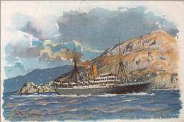 T.P. NO CIRCULADA , NORDDEUTSCHER LLOYD BREMEN , SCILLA , STRASSE VON MESSINA , BARCOS , SHIPS , BATEAUX - Ferries