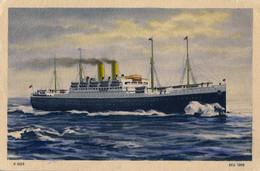 T.P. NO CIRCULADA , HAMBURG - AMERIKA LINIE , BARCOS , SHIPS , BATEAUX - Ferries