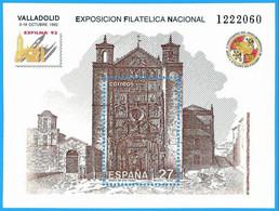 España. Spain. 1992. HB. EXFILNA '92. Exposicion Filatelica Nacional. Valladolid - 1931-Hoy: 2ª República - ... Juan Carlos I