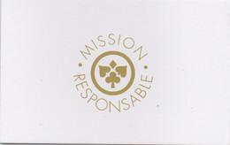 Carte Mission Responsable : Casino JOA (Papier - Carton) - Casinokarten