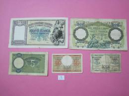 Albania Lot 5 Banknotes Nd 1939, 3 - Albania