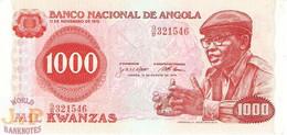 ANGOLA 1000 KWANZAS 1979 PICK 117 AU/UNC - Angola