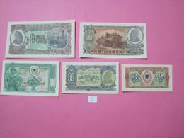 Albania Lot 5 Banknotes 1957, UNC. 2 - Albania