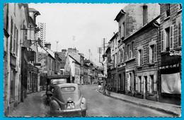 CPSM 95 MARINES - Rue Jean Jaurès (Peugeot 203) ** Auto Automobile Voiture Car - Marines