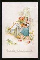 Germany DDR 4 Old Postcards AK - Children, Happy Birthday ! Kinder, Alles Gute Zum Geburtstag ! - Niños