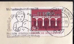 Germany Oberursel Taunus 1985 / Weltgesundheitsthema '84 / Health For Our Children / Bear Toy / Machine Stamp - Health