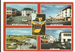 Challans (Vendée 85) 'capitale Du Canard' - 4 Photos, Places De Gaulle Et Aristide Briand, Rue Avec Voitures, Le Marais - Challans