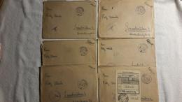 6 X Feldpostbrief Beleg M. Inhalt Flieger Jagdgeschwader Schweidnitz Schlesien Lehrgang 1943 Juli Kl.Nachlass 5 - 1939-45