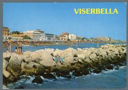 °°° Cartolina - Viserbella Di Rimini La Scogliera Viaggiata °°° - Rimini