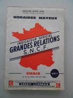 Horaires Mayeux - Sncf - Eisenbahnverkehr