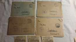 4 X Feldpost Brief Beleg M. Inhalt Flieger Gefr. Jagdgeschwader 1. Fhj. Komp. Schöngarten ü. Breslau Augu. Kl.Nachlass 6 - 1939-45