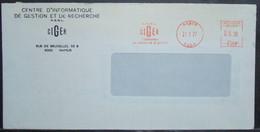 Belgium - Advertising Meter Franking Cover 1977 Namur Ciger Informatics Management Research H825 - 1960-79