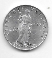 *vatican 10 Lire  1965 Km 79.2 Xf+/ms60 - Vaticano