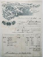 Belle Facture 1901 - STRASBOURG - Manufacture Alsacienne Des TABACS - Cigarettes Tabac  /F43 - France