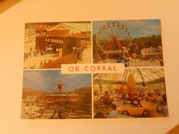 Dept 13 Cuges Les Pins  Parc D'attractions ' Ok Corral ' 4 Vues ' Photos André Lapalud ' écrite + Timbre 1988 - Other Municipalities