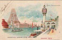 PARIGI - EXPOSITIONS LEFEVRE   1900 - Controluce