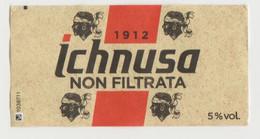 ICHNUSA NON FILTRATA BIRRA  ETICHETTA CARTA ITALY - Bière