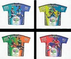 VANUATU 2006 - Coupe Du Monde FIFA - Allemagne 2006 - 4 V. Adhésif - Vanuatu (1980-...)
