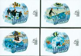 VANUATU 2008 - Service Postal De L'extrême - Adhésifs - 4 V. - Vanuatu (1980-...)