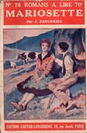 Mariosette Par J. Dengerma - Collection Romans à Lire N°78 - Books, Magazines, Comics