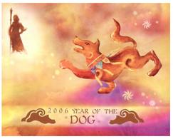 (O 22 A) Australia Chrismtas Island - Maxicard - Chinese New Year Of The Dog - Christmas Island
